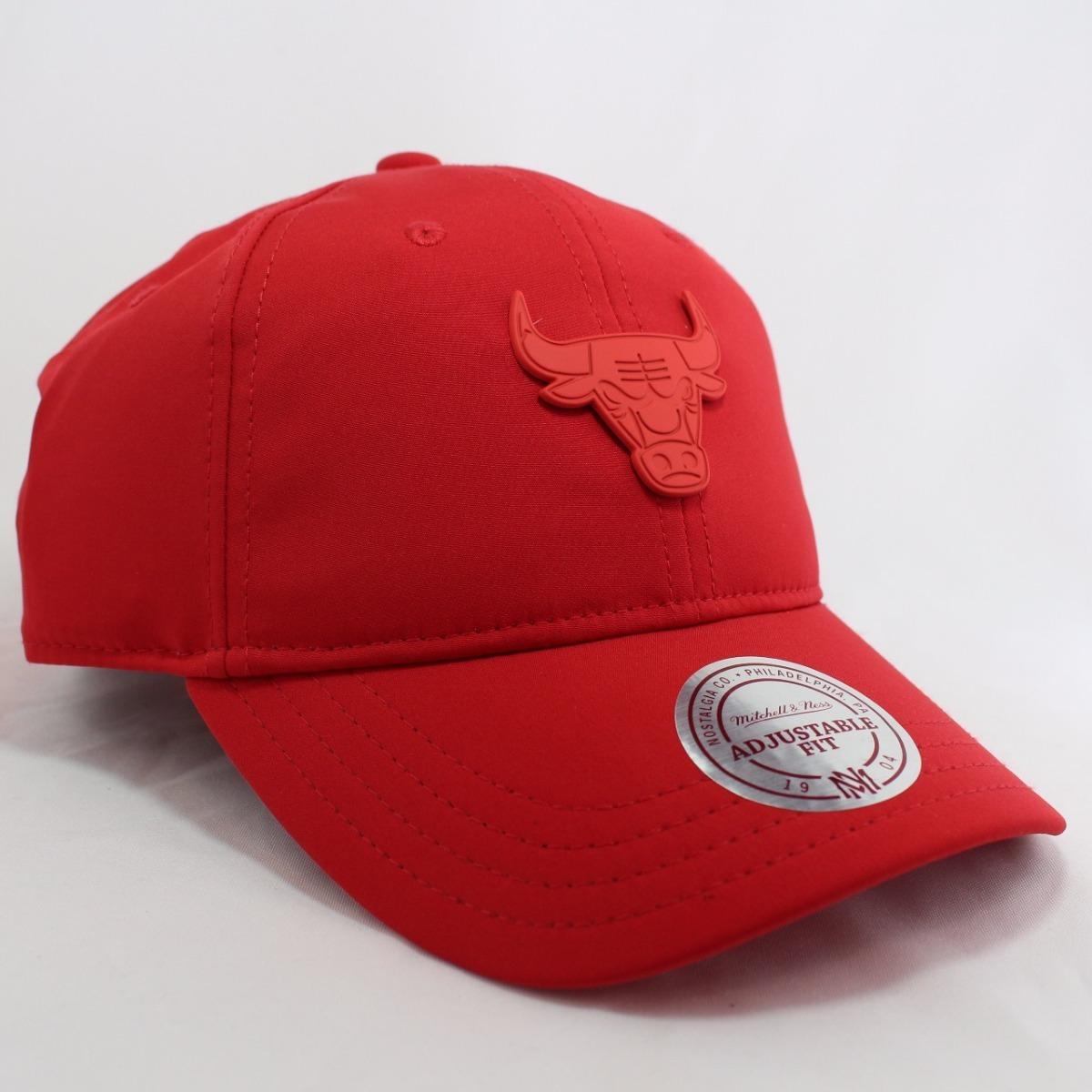 Boné Mitchell   Ness Aba Curva Chicago Bulls Vermelho 18762 - R  159 ... a9e7b878e03