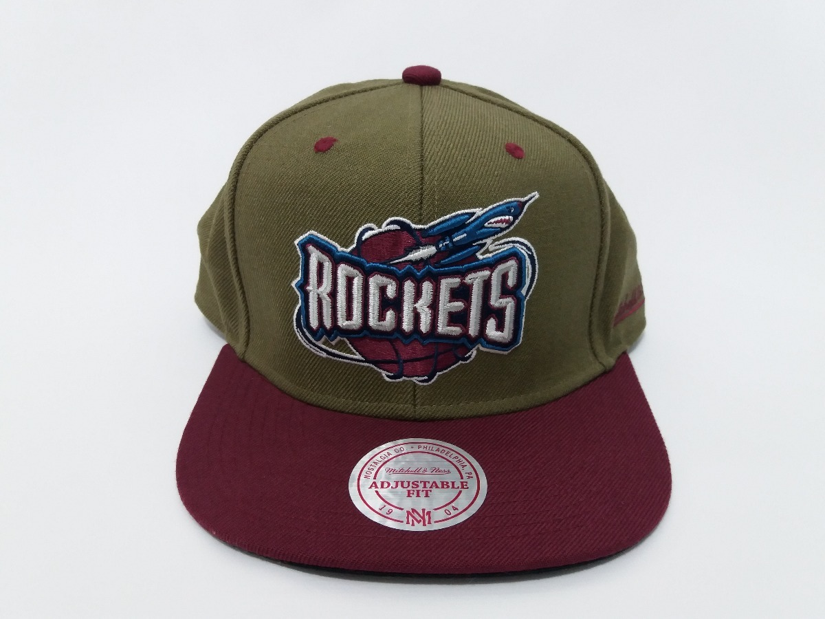 boné mitchell   ness houston rockets dual snapback original. Carregando  zoom. f03ad918f4f