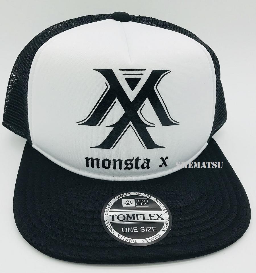Boné Monsta X Kpop K-pop Trucker Cap Aba Reta Estampa Silk - R  50 ... afefd46a983