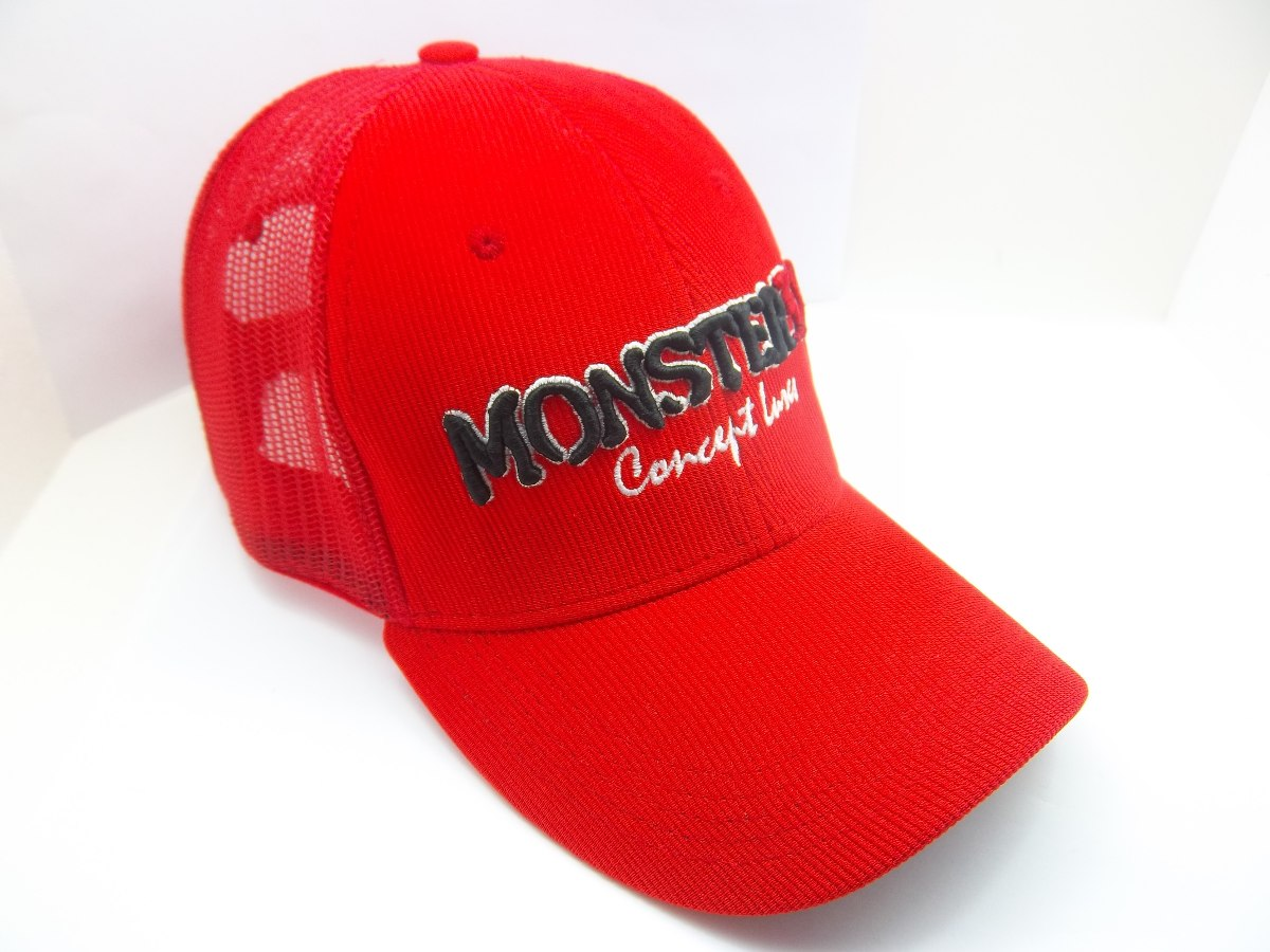 boné monster 3x fit com tela bordado alto relevo - vermelho. Carregando  zoom. 22d73449e1b