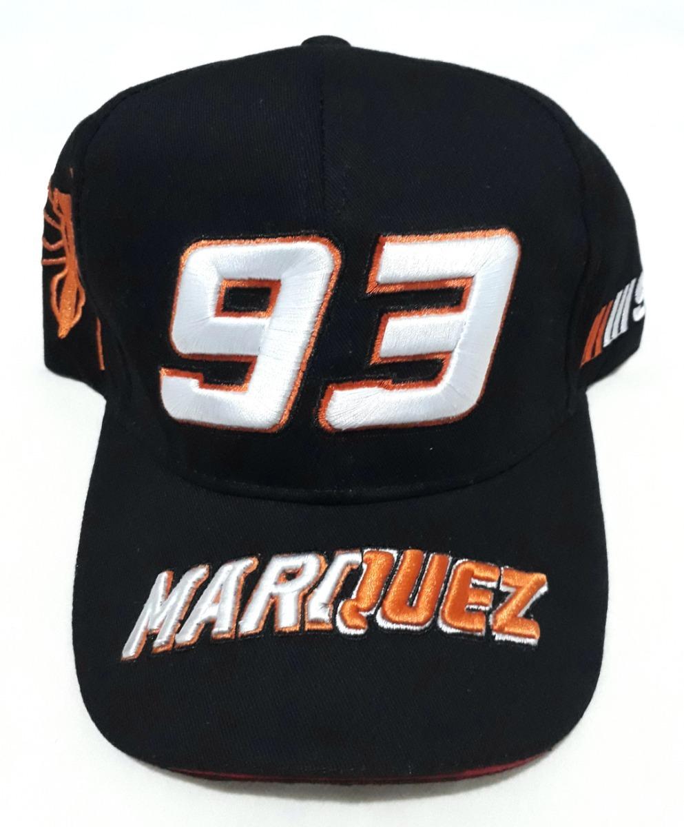 1274c1b70be72 Boné Moto Gp Marc Marquez 93 Repsol Honda Preto Formiga 93g - R  44 ...