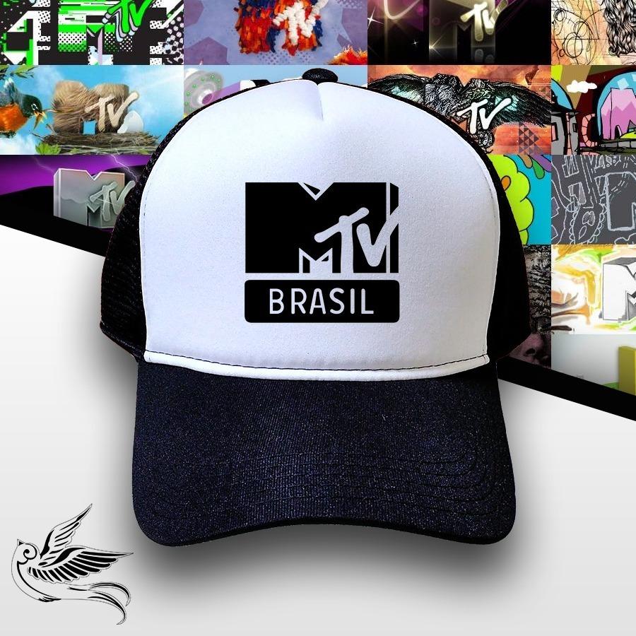 8cb4837ec70bf boné mtv brasil preto e branco trucker frete grátis. Carregando zoom.