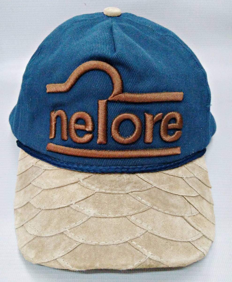 5b3396edb8f4c boné nelore aba de couro escamada marrom azul marinho bonnet. Carregando  zoom.