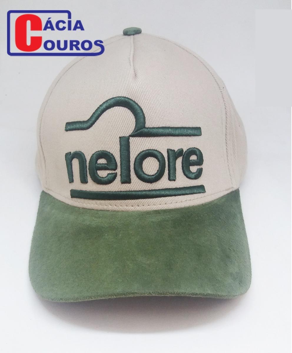 boné nelore bege verde musgo trucker couro country original. Carregando  zoom. 20396bfee0f
