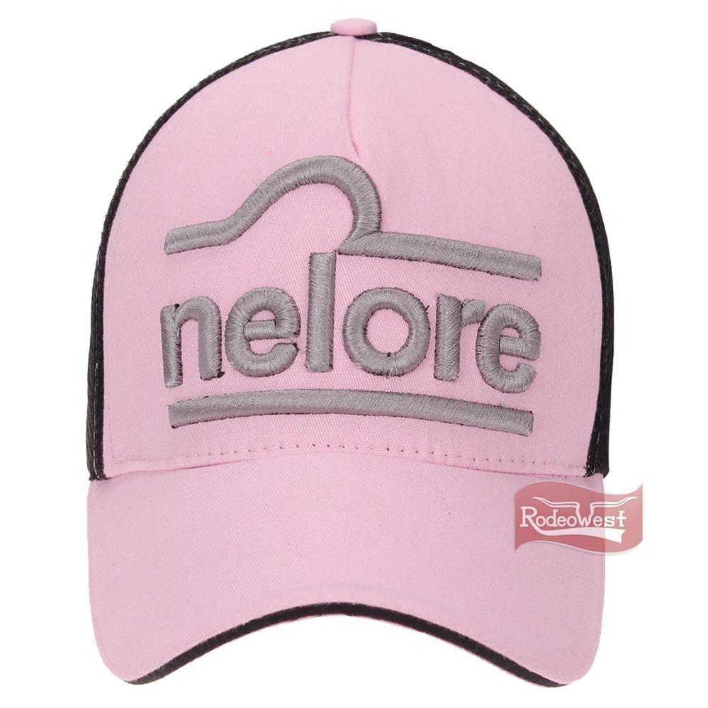 b23d189257991 boné nelore rosa bordado em alta definição com tela preta -. Carregando zoom .