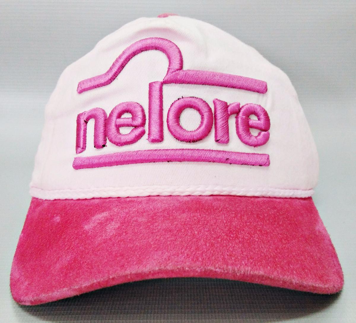 boné nelore rosa claro aba de couro original bonnet. Carregando zoom. 0db890bd06d