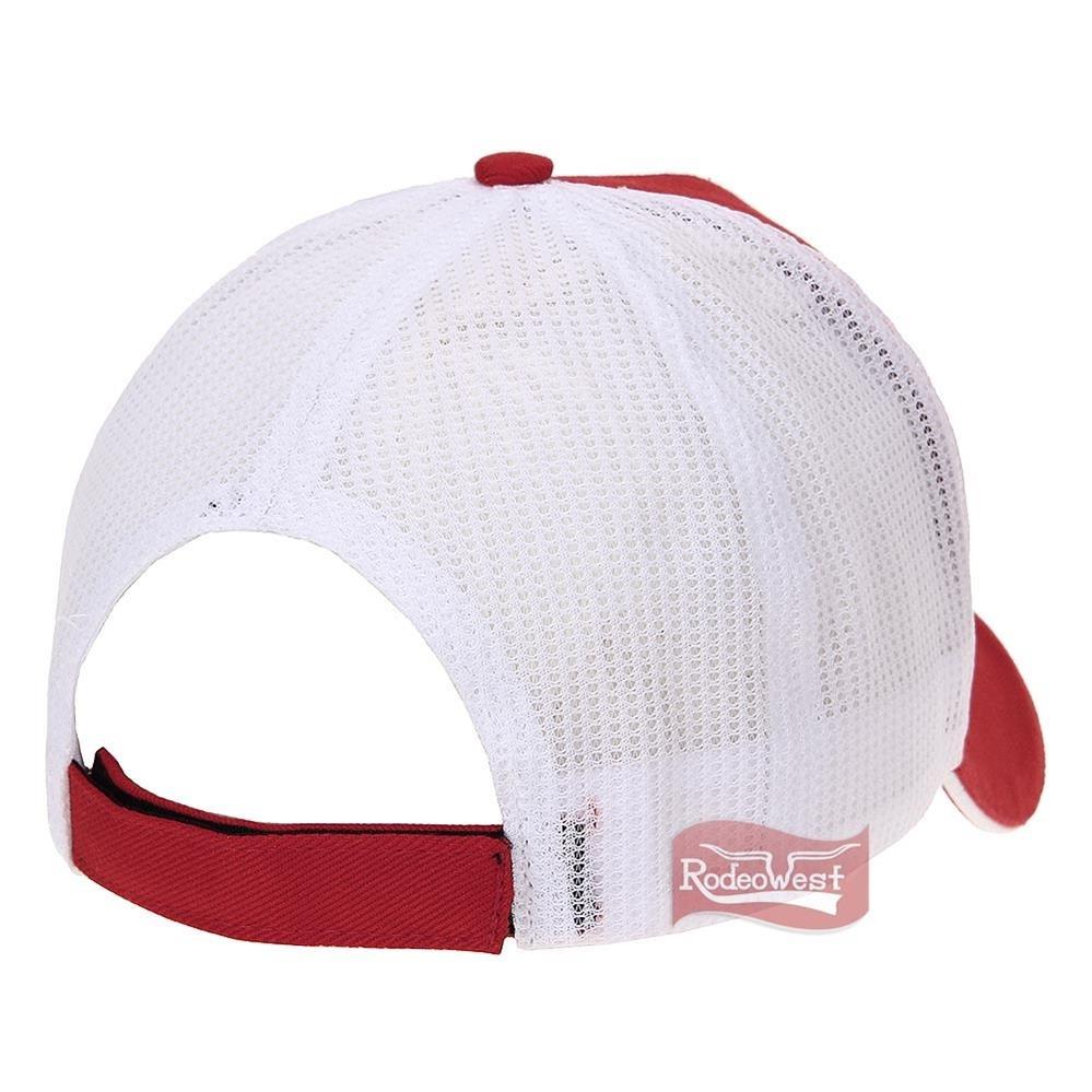 388d6c97e6731 boné nelore vermelho 100% algodão com tela branca - único. Carregando zoom.