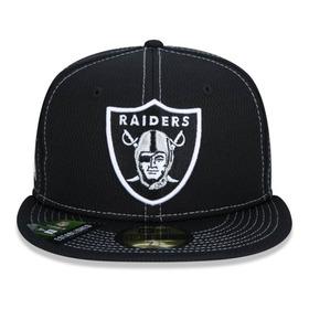 Boné New Era 59fifty Nfl Oakland Raiders Preto Size 8 63.5cm