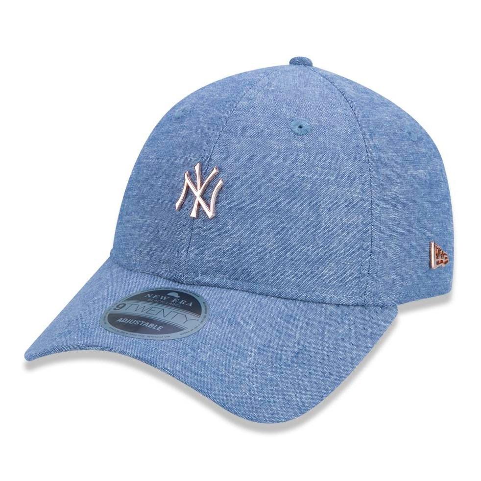 Boné New Era 920 New York Yankees Aba Curva Azul Original - R  129 ... e811a010e86