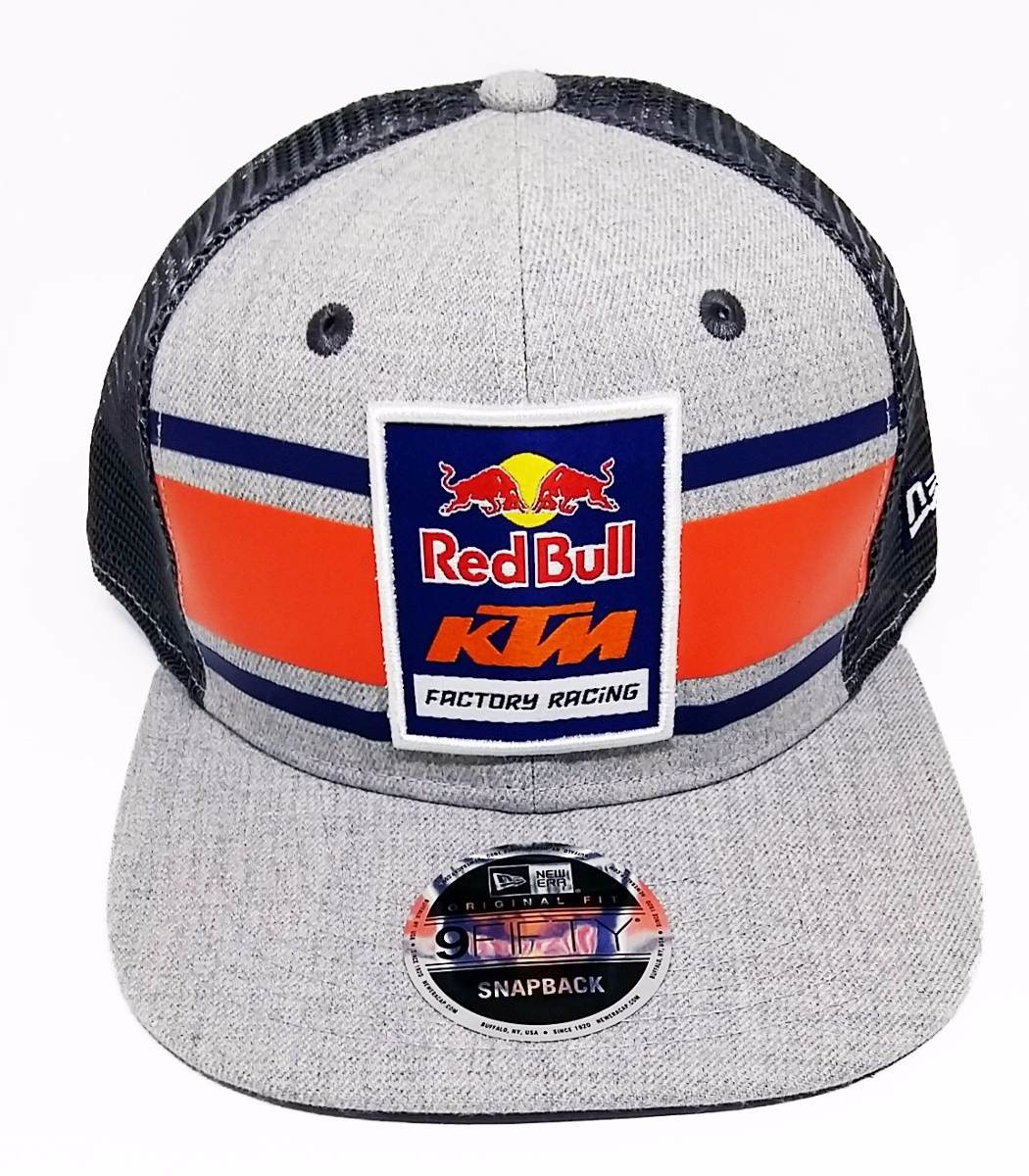Boné New Era 9fifty Ktm Red Bull Racing Cinza Of Snapback - R  210 ... 7cfea351df4