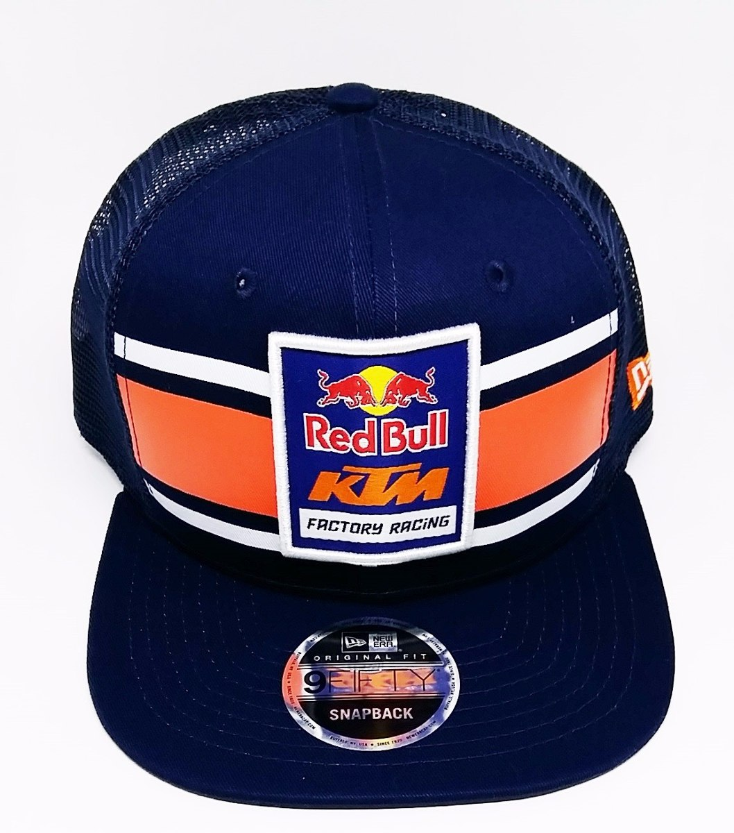 Boné New Era 9fifty Ktm Red Bull Racing Trucker Of Snapback - R  210 ... 9caee2ad39e