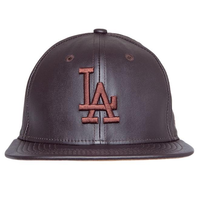 Boné New Era 9fifty Los Angeles Dodgers Strapback Leather Br - R ... 605a256c50a