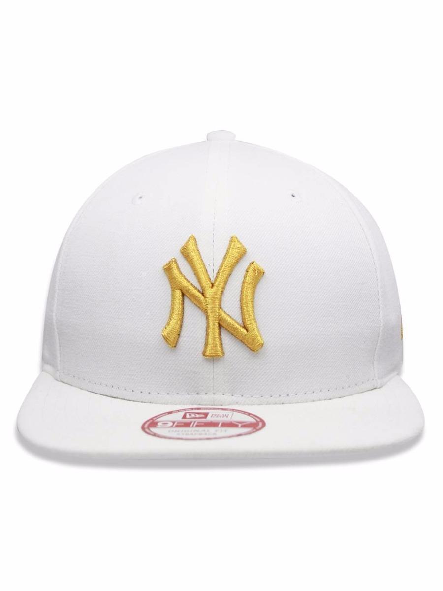 boné new era 9fifty new york yankees white gold strapback. Carregando zoom. d915ee308e2