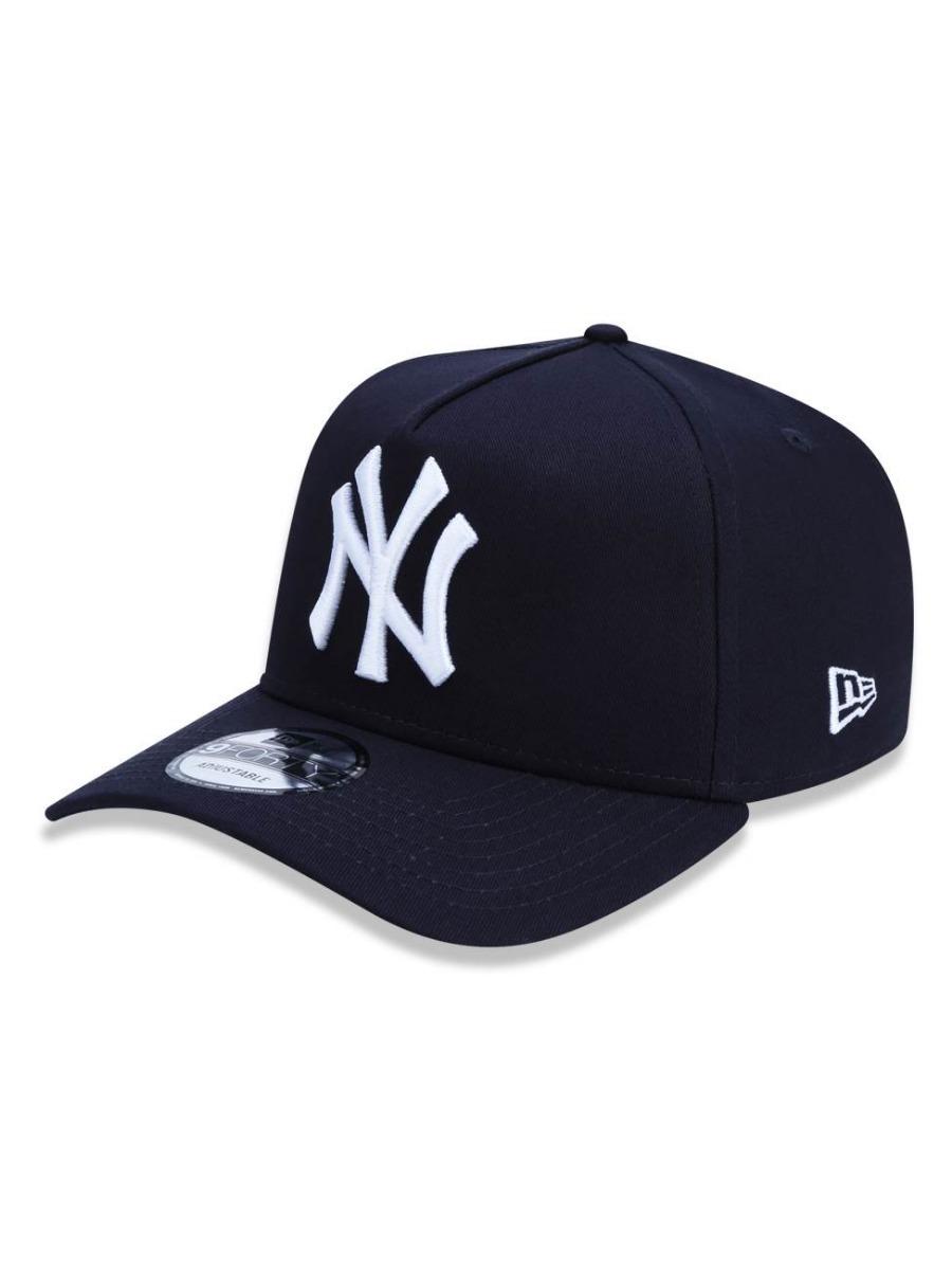Boné New Era 9forty A-frame Ny Yankees Snapback Marinho - R  149 cdccf23c8f21c
