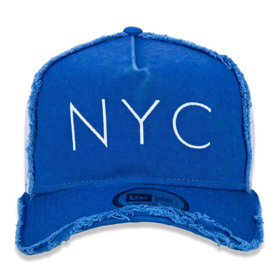 ... snapback nyc trucker aba curva azul original. Carregando zoom... boné  new era. Carregando zoom. 40ecc69558b