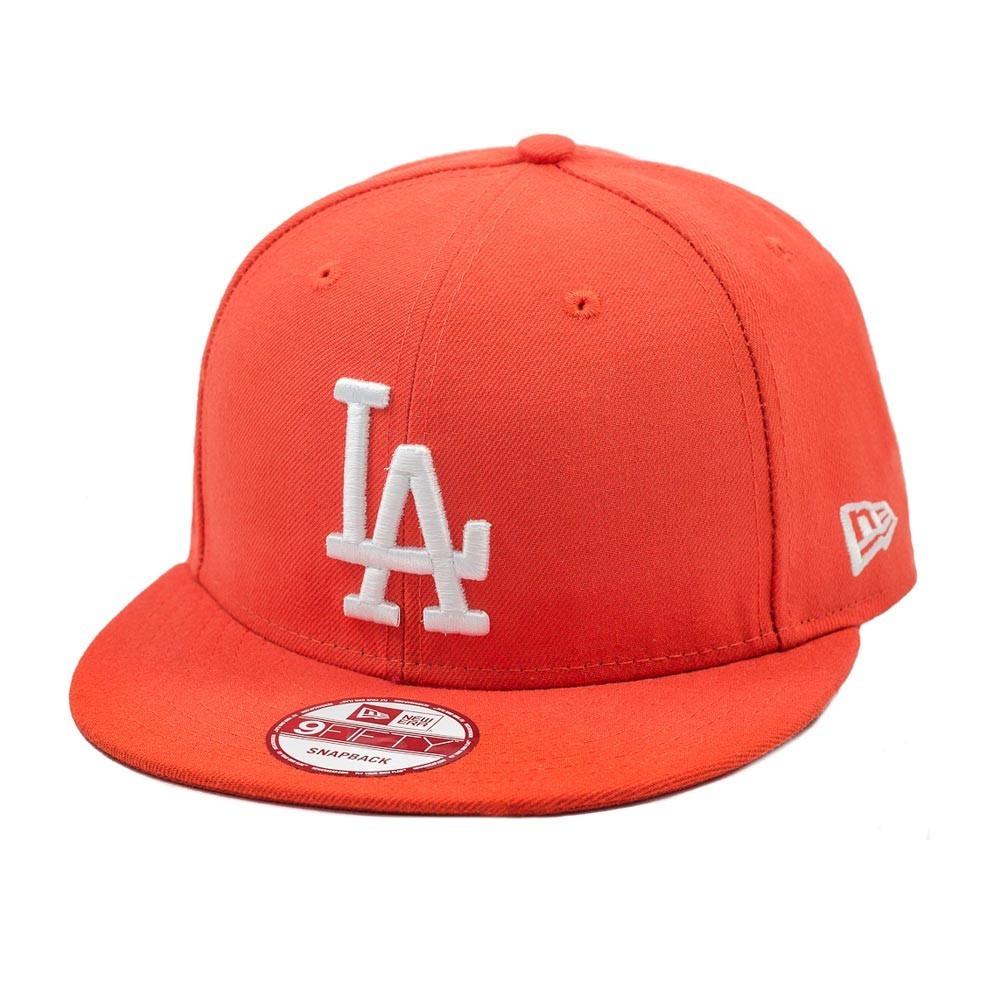 Boné New Era Aba Reta Snapback Los Angeles Dodgers Laranja - R  169 ... f3504d7a726