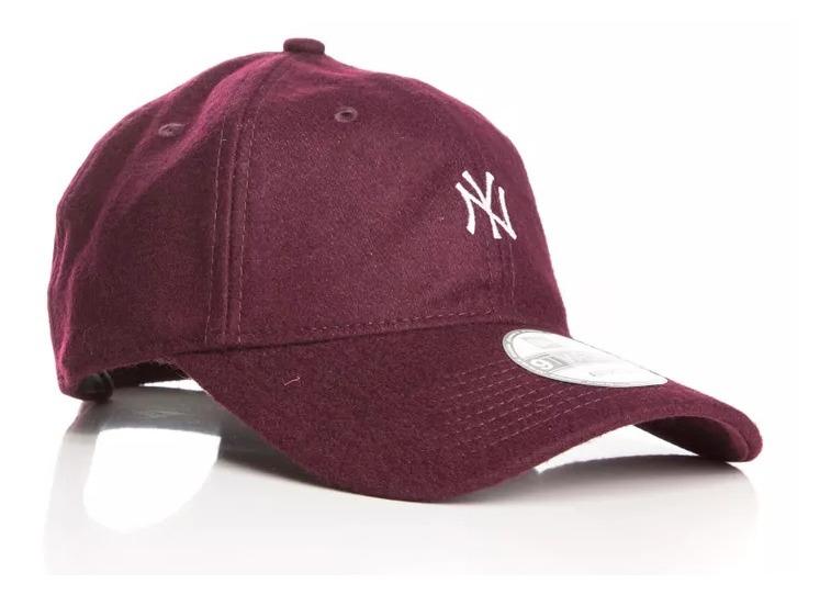 Boné New Era Aba Curva Mini Logo New York Vinho - Strapback - R  149 ... 6f90f25b7d4