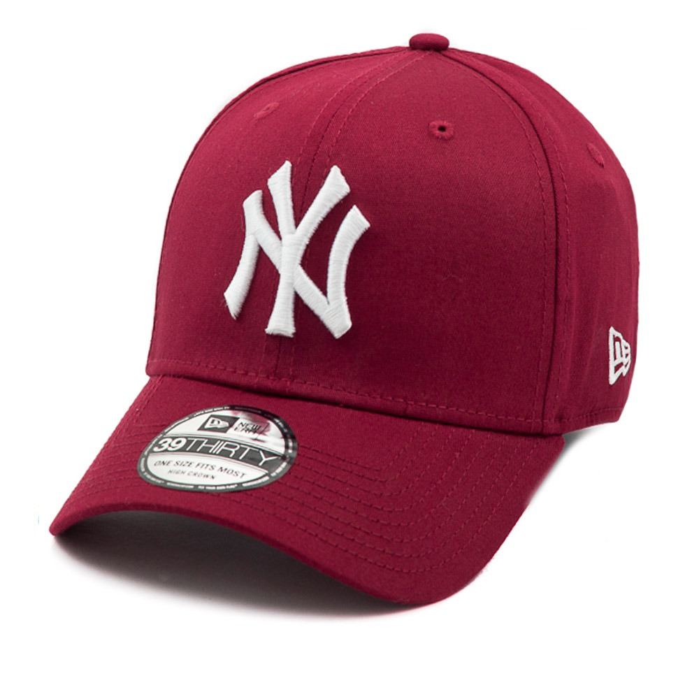 473a1e402140f Boné New Era Aba Curva New York Yankees Vinho - Mlb - R  139