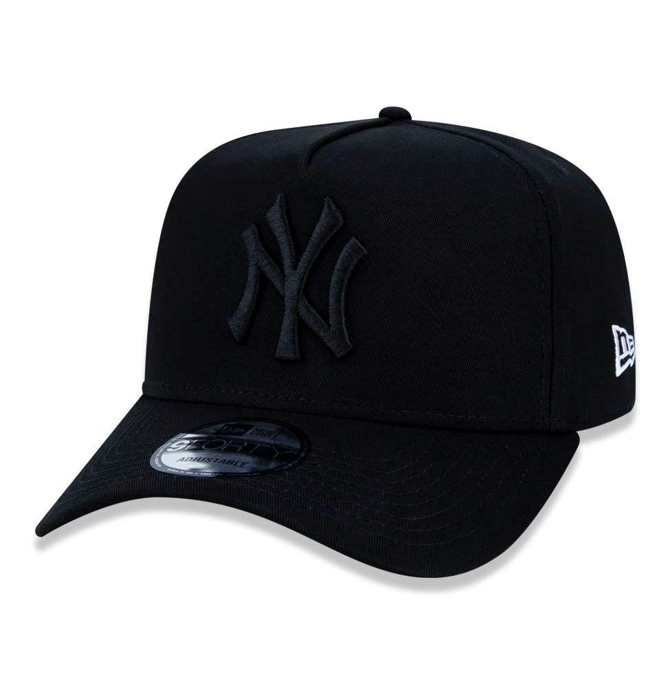Boné New Era Aba Curva Snapback Ny Yankees Preto Original - R  152 ... f0803b7224c