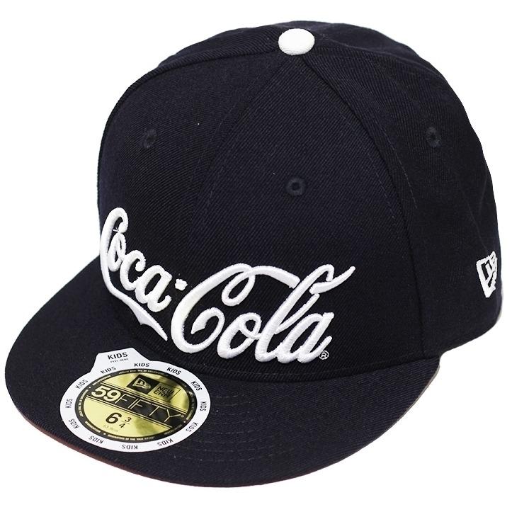 Boné New Era Aba Reta Fechado Coca-cola Navy - Infantil - R  99 c067901d7f4
