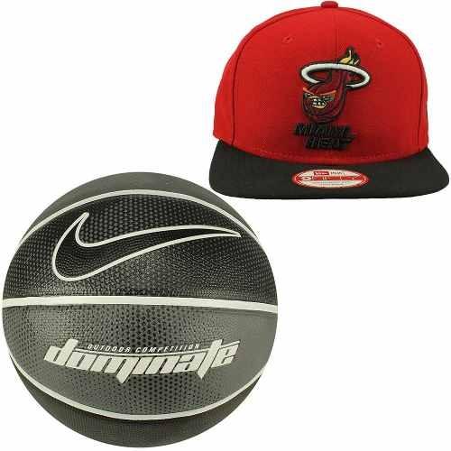 Boné New Era Aba Reta Miami Heat+bola Basquete Nike Oficial! - R ... ce31d941796