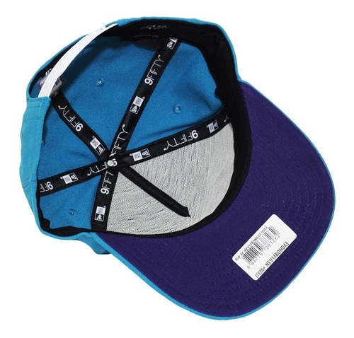 boné new era aba reta snapback brand bask - azul claro