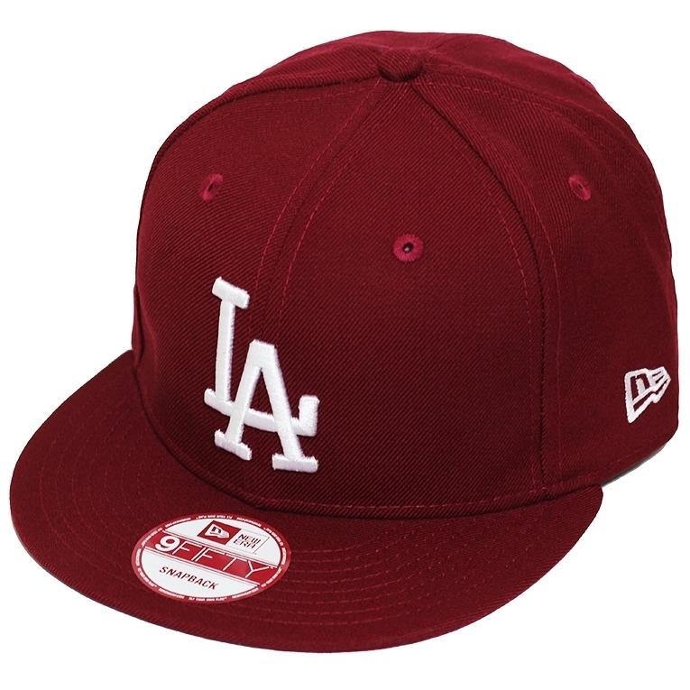 9c8b460565 Boné New Era Aba Reta Snapback Mlb Los Angeles Colors Vinho - R$ 139 ...