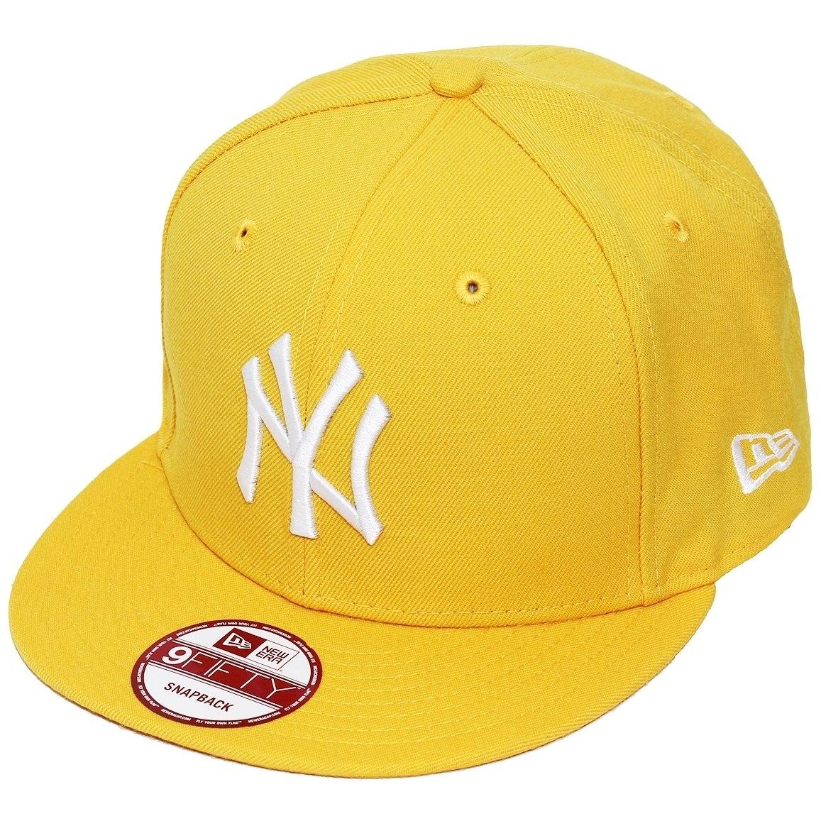 5b95dd4c3fbec boné new era aba reta snapback mlb ny yankees colors amarelo. Carregando  zoom.