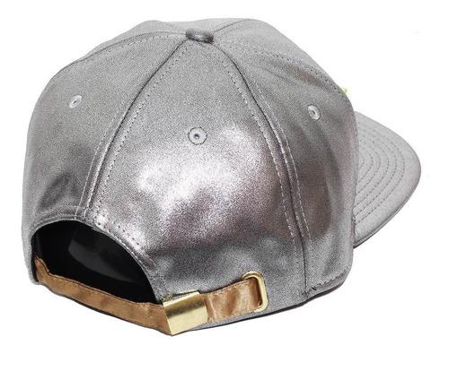 boné new era aba reta strapback nm2 mc guimê metal gold