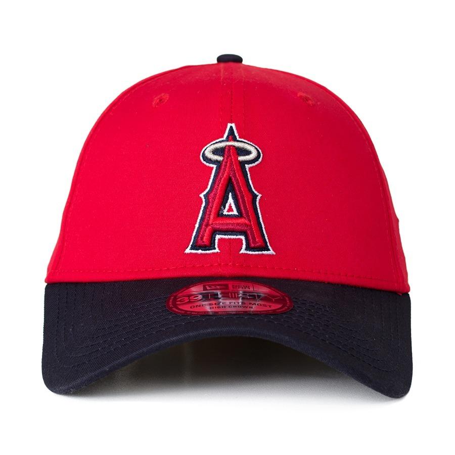 boné new era los angeles angels 39thirty aba curva vermelho. Carregando zoom . 83df5c172b1