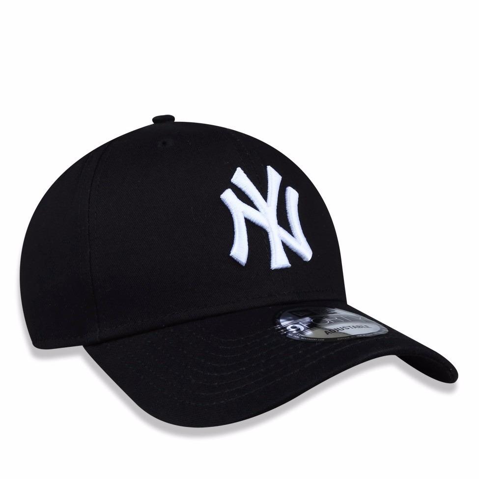 ccfceca6a Boné New Era Aba Curva Mlb New York Yankees Preto Ajustável - R  169 ...