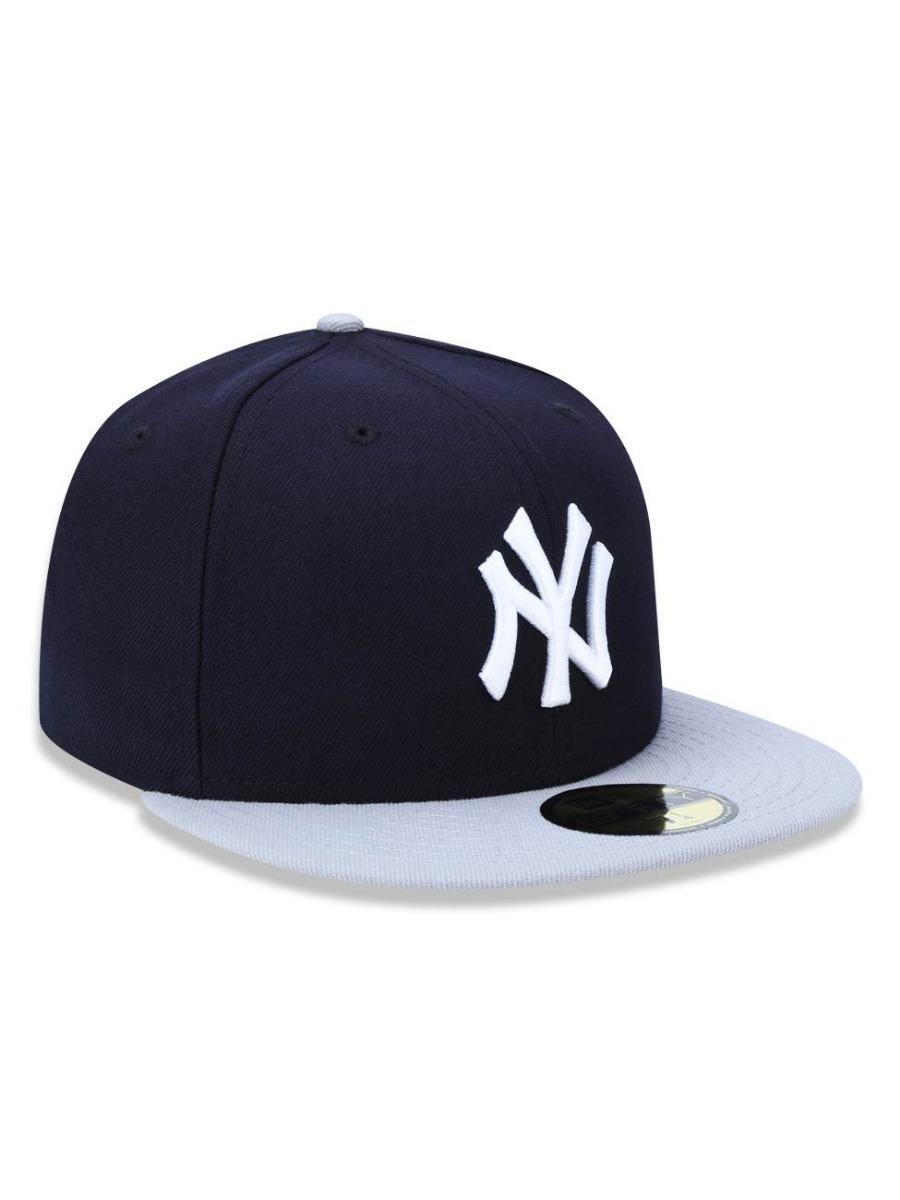 994e7b5dc0980 Boné New Era New York Yankees Marinho cinza - 7 7 8 (62.5cm) - R ...