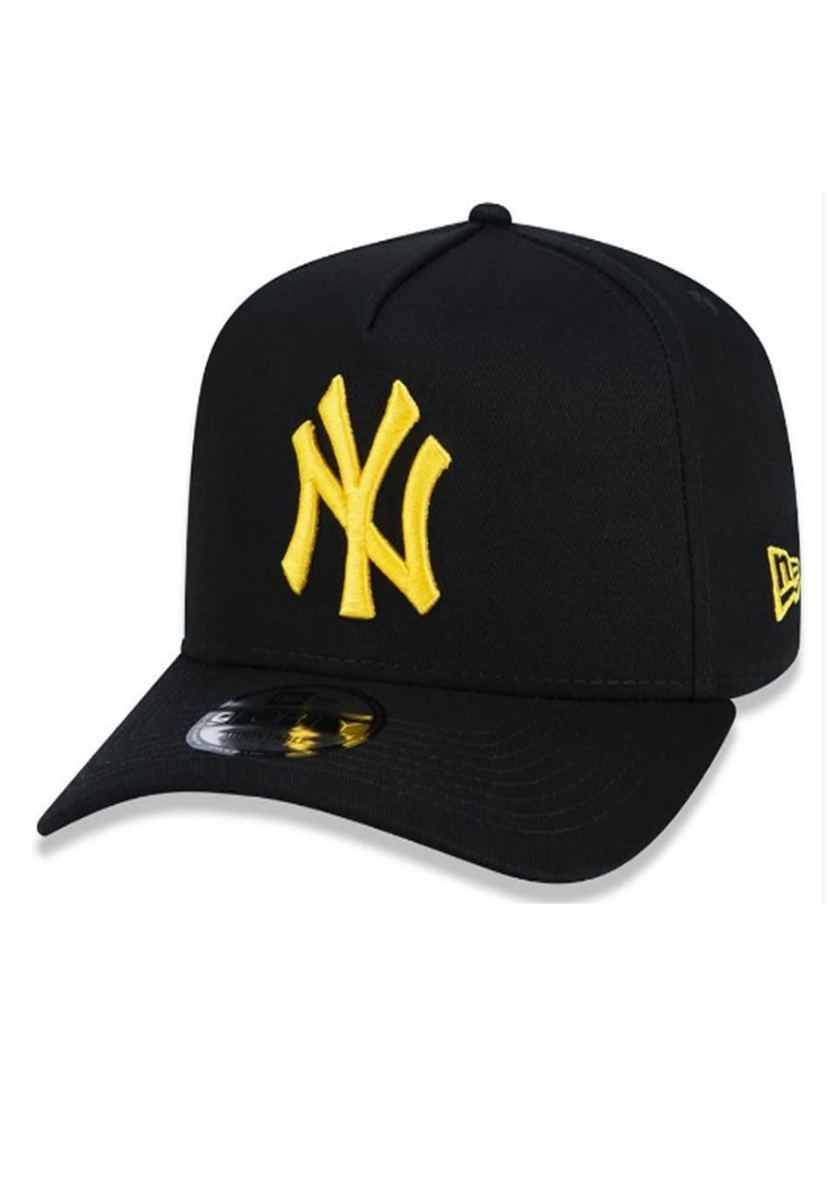 bf1755ec48dfb Boné New Era New York Yankees Preto amarelo + Brinde - R  159