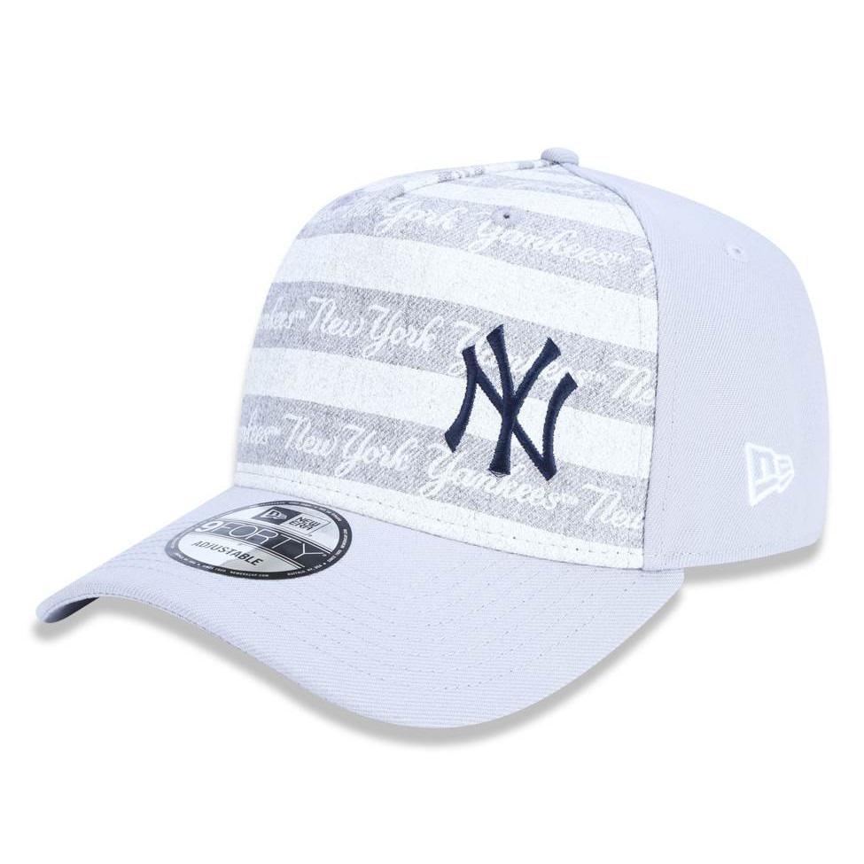 boné new era snapback new york yankees mlb cinza. Carregando zoom. 6ed57116d18