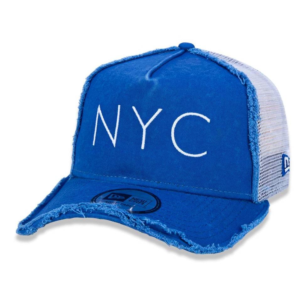 boné new era snapback nyc trucker aba curva azul original. Carregando zoom. 930adab788d