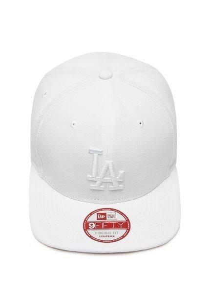 Boné New Era Strapback La Dodgers Branco Original! - R  49 30e6d5ec904