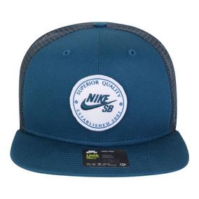 competitive price 94c76 b2ee5 Boné Nike Sb Aba Reta Patch Trucker Azul Original