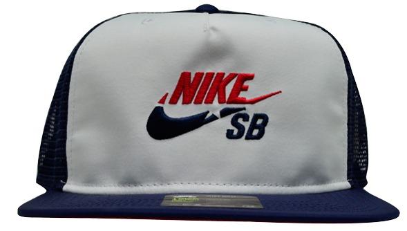 b40636c6001b0 Boné Nike Sb Cap Trucker Azul Marinho   Branco Original - R  99