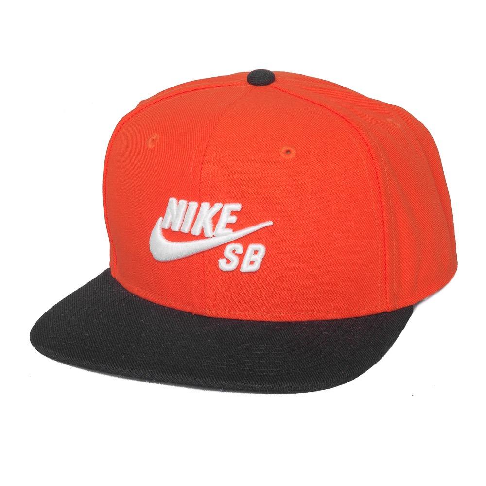 7224d8d893 Boné Nike Sb Icon Snapback Laranja / Preto