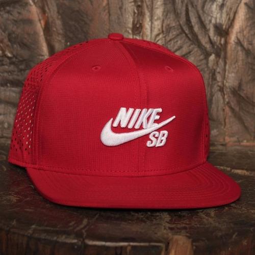 Boné Nike-sb Icon Snapback Trucker Vermelho - R  149 d465cebda72