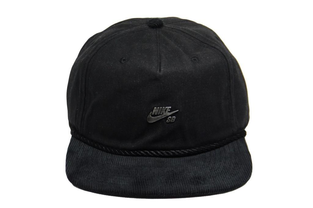 f8347ba155 Boné Nike Sb Waxed Canvas Pro Preto - Strapback - R$ 104,90 em Mercado Livre