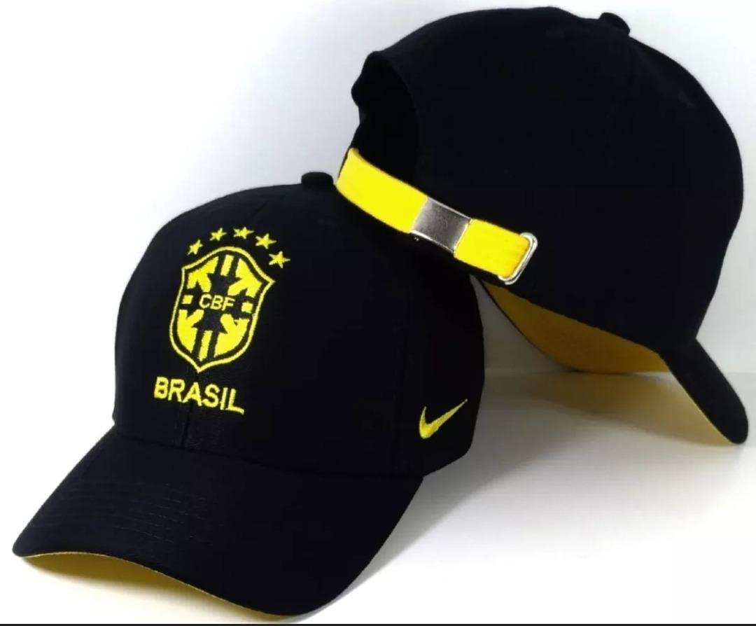 530f151f01c64 boné nike seleção brasileira fita brasil preto. Carregando zoom.