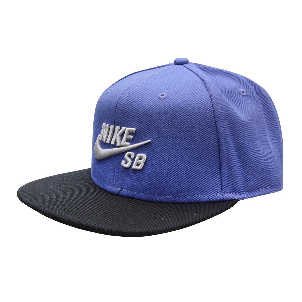 31be6c74ca Bone Nike Skateboarding Aba Reta Original Sb Azul Violeta Pr