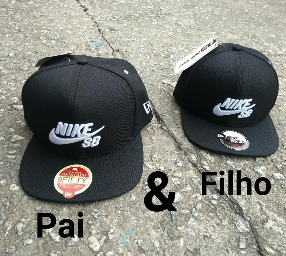 39c798f9b4189 Boné Ny Infantil Kit 2 - Bonés Pai E Filho   La   Nike - R  84