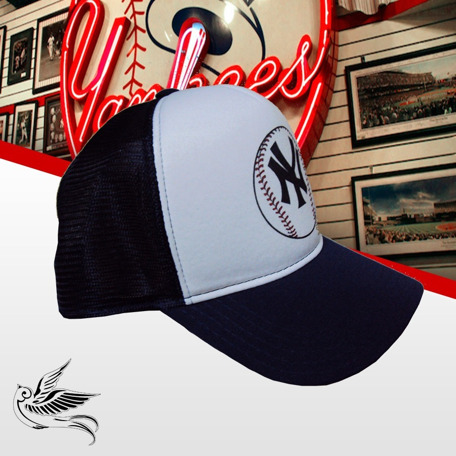 Boné Ny Yankees Logo Bola Preto E Branco Frete Grátis - R  65 251c2c035f4