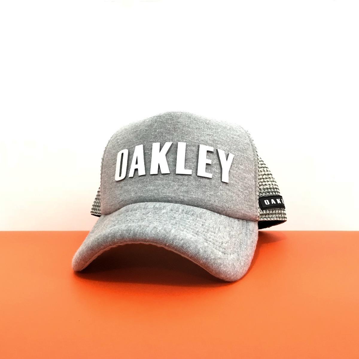 cda5635615f30 boné oakley hand classic grey cinza mescla aba curva trucker. Carregando  zoom.