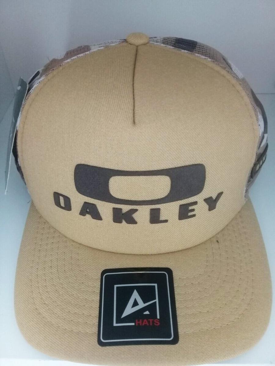 Boné Oakley Tela Camuflado Trucker Exército Masculino - R  25 87a0ecbbcda