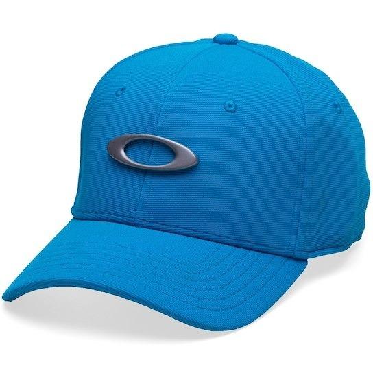 Boné Oakley Tincan Aba Curva Preto Logo Prata Elipse - R  48 9fb0544337484