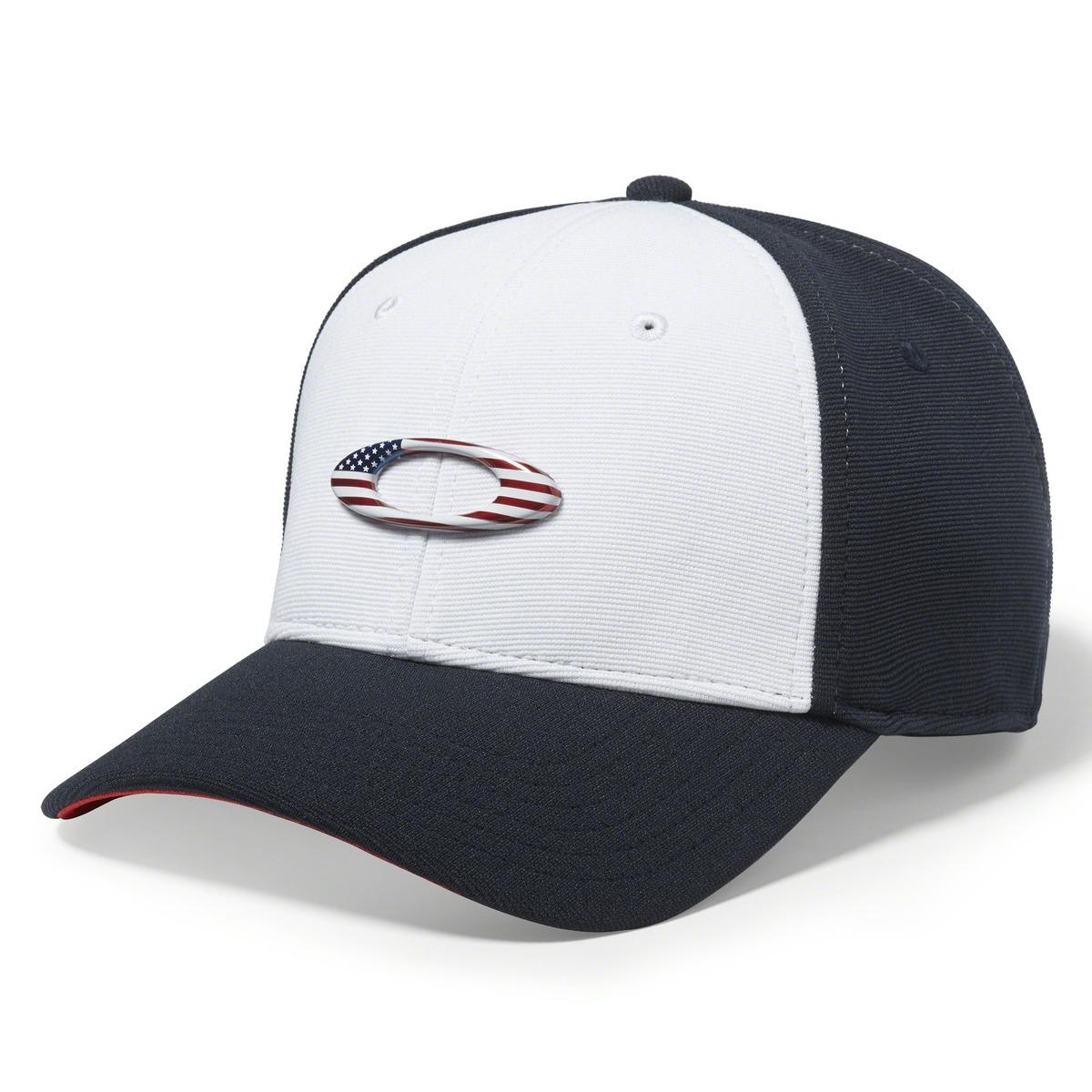 boné oakley tincan cap azul marinho com branco e logo usa. Carregando zoom. a7334b7cf4b