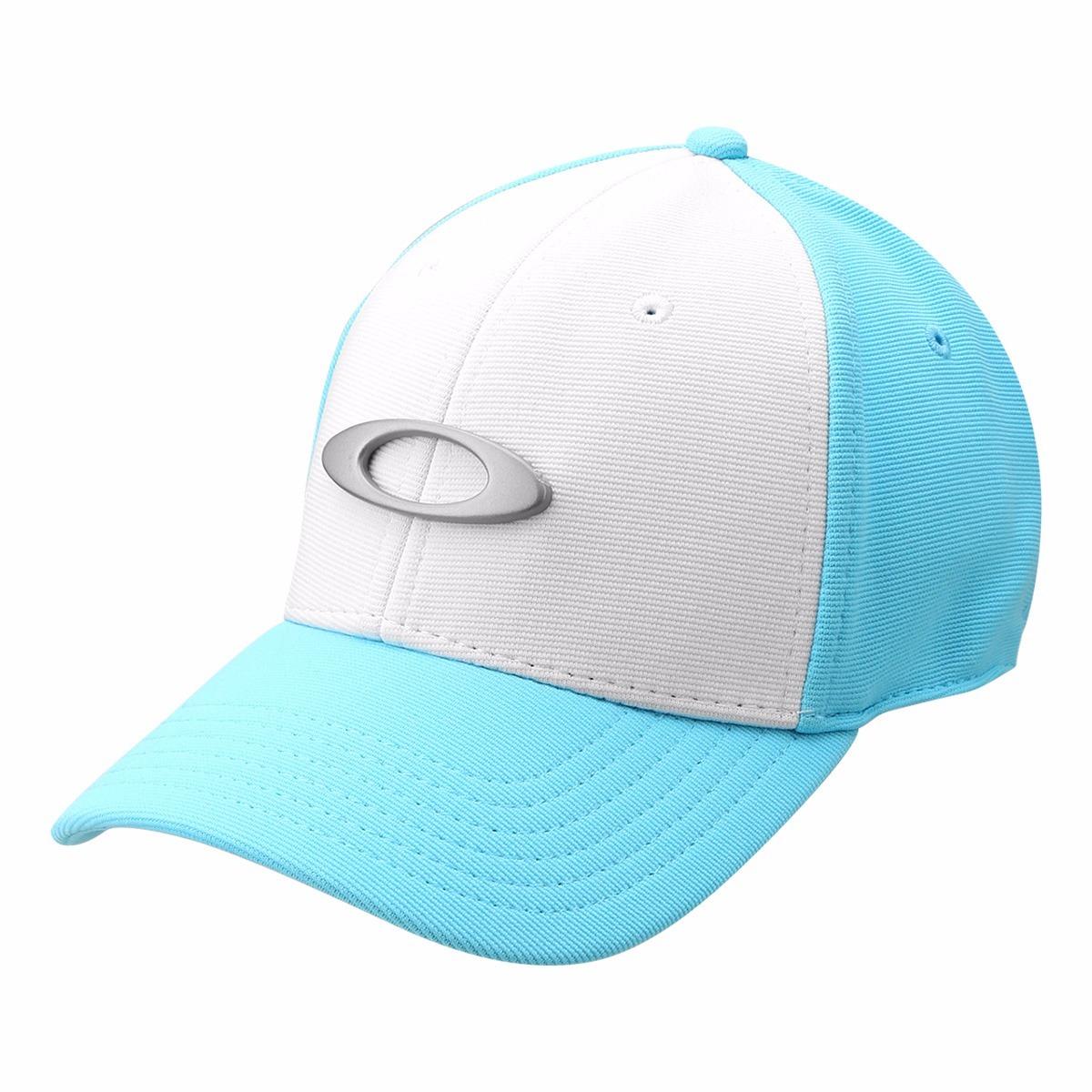 Bone Oakley Tincan Oval ( Branco Com Azul Claro ) - R$ 179,90 em ...